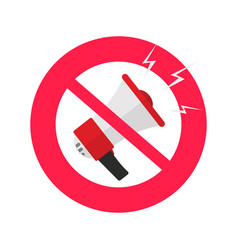 no sound or mute icon flat design silence vector image