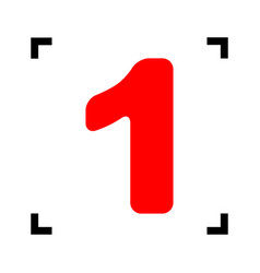 number 1 sign design template element red vector image