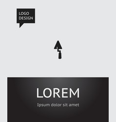 of building symbol on vector image