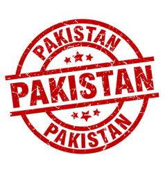 Pakistan red round grunge stamp vector