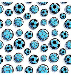pattern with soccer balls vector image