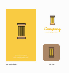 Piller company logo app icon and splash page vector