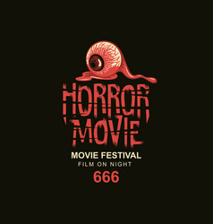 Poster for scary cinema horror movie festival vector