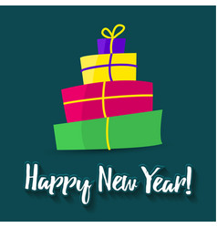 poster happy new year greeting card template vector image