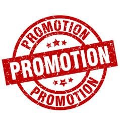 Promotion round red grunge stamp vector