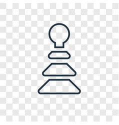 Pyramidal toy concept linear icon isolated on vector