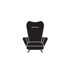 recliner black concept icon recliner flat vector image