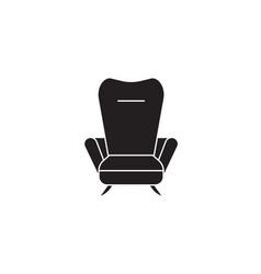 Recliner black concept icon recliner flat vector