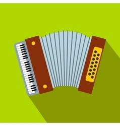 Retro accordion flat icon vector image