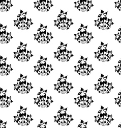 seamless wallpaper with silhouettes of flowers vector image