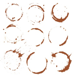 Set coffee blots 380 vector