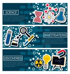 Set of Horizontal Banners about Science vector image