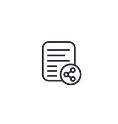 Shared document line icon vector