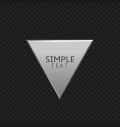 silver triangle label vector image