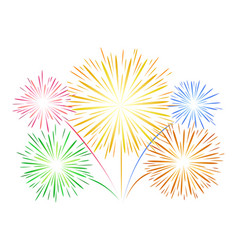Simple fireworks on white vector