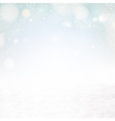 Snow environment vector image
