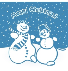 snowmens vector image