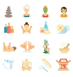 Spa Icons Flat vector