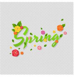 spring sale text transparent background vector image