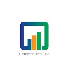Square business finance logo vector