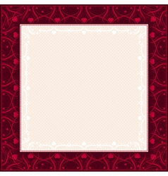 Square red background with decorative ornaments vector