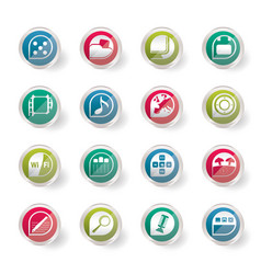 stylized phone performance internet and office vector image