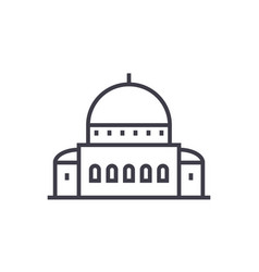 Templesynagogue line icon sign vector