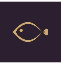 The fish icon Seafood symbol Flat vector image