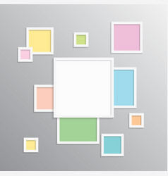 The templates collage one frame photo picture vector