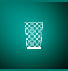 trash can icon isolated on green background vector image