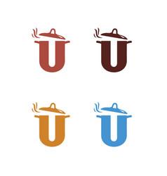 u-pot-logo vector image