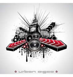 urban grunge element vector image