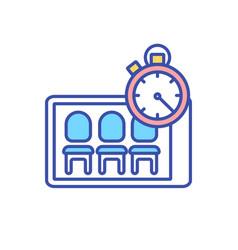 Virtual waiting room rgb color icon vector