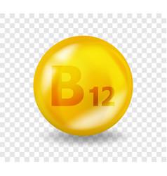 Vitamin b12 cyanocobalamin complex vector