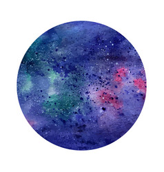 Watercolor abstract space circle cosmic vector