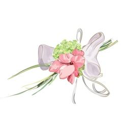 Wedding floral decor vector