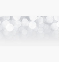 white bokeh background design with text space vector image
