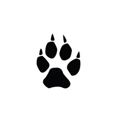 Wolf footprint vector