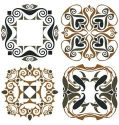 4 art nouveau wallpapers vector image