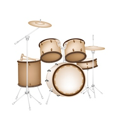 A Beautiful Drum Kit on White Background vector image vector image