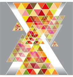 Abstract geometric background with place for your vector image vector image