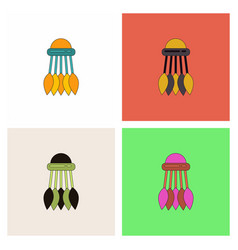 Badminton equipment collection vector