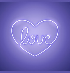 love neon sign purple vector image vector image