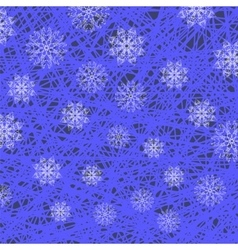 White Snowflake Pattern on Blue vector image vector image