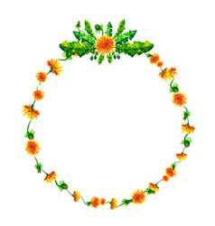 wreath circle frame with the watercolor vector image