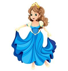 A happy young princess vector image