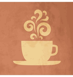 Cup with floral vintage design elements vector image vector image