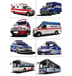 municipal transport vector image vector image