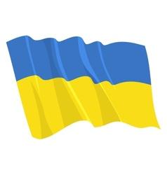 political waving flag of ukraine vector image vector image