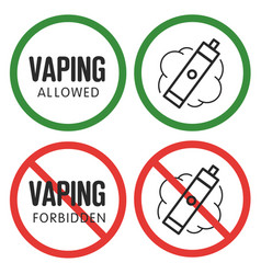 prohibitory sign vaping vector image